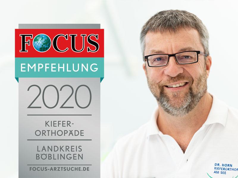 Auch 2020 ausgezeichnet als empfohlener Arzt in der Region Böblingen